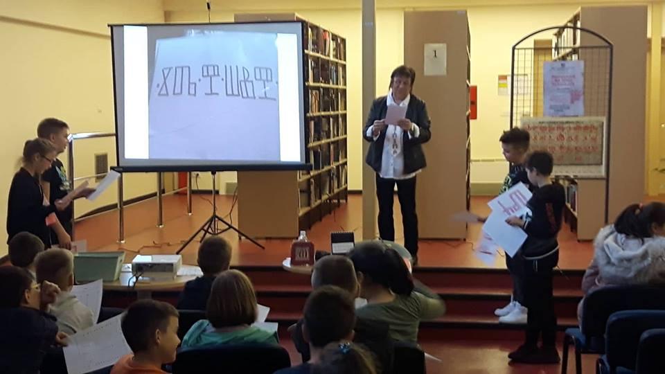 Photo of Predavanje na temu glagoljice u Samostalnoj narodnoj knjižnici Gospić