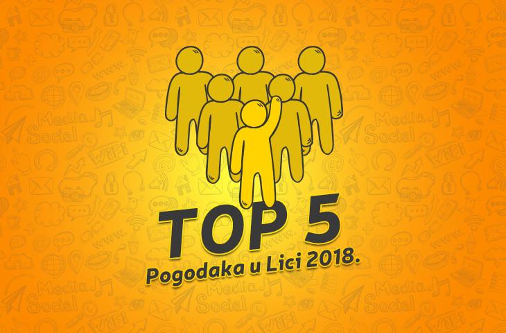Photo of TOP 5 POGODAKA U 2018.: Pjevačica Holjevac, politika Starčevića, događanje Gacke doline,…
