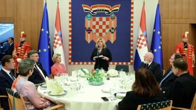 Photo of Svečana večera na Pantovčaku povodom početka hrvatskog predsjedanja Vijećem EU