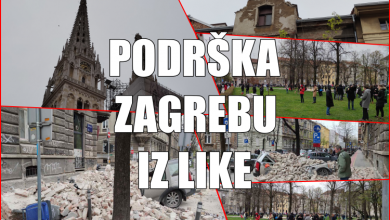 Photo of Podrška Zagrebu iz naše županije poslana iz Novalje, Gospića i s Plitvica
