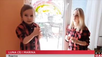 Photo of VIDEO Protiv širenja zaraze se bore i djeca! Na prozorima stanova i kuća osvanuli su crteži duga
