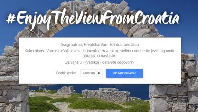 Photo of Preko web stranice Enter Croatia stranci mogu najaviti dolazak u Hrvatsku