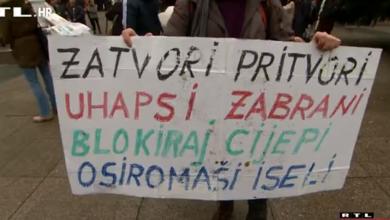 """Photo of Što su poručili prosvjednici u hrvatskim gradovima: """"Virus postoji, ali cijela priča je prenapuhana"""""""