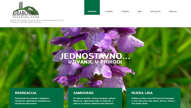 Photo of Pećinski park Grabovača ima novi web!