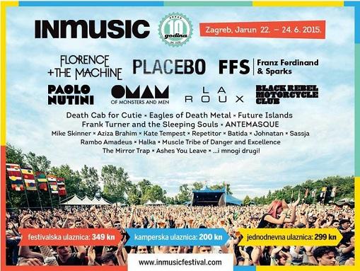 Photo of INmusic festival: Objavljen je raspored nastupa po danima i krenula je prodaja ulaznica