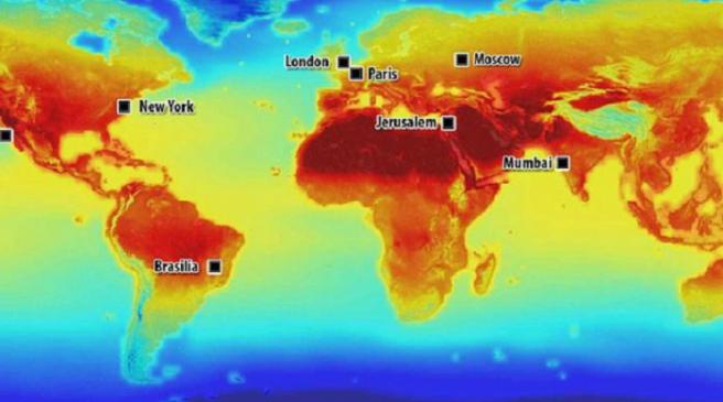 Photo of NASA je objavila zabrinjavajuću kartu klimatskih promjena u sljedećem stoljeću