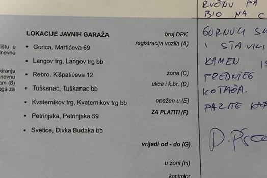 Photo of NIJE KAZNA: Pogledajte kakvu je obavijest dobio vozač u Zagrebu od djelatnika Zagrebačkog holdinga