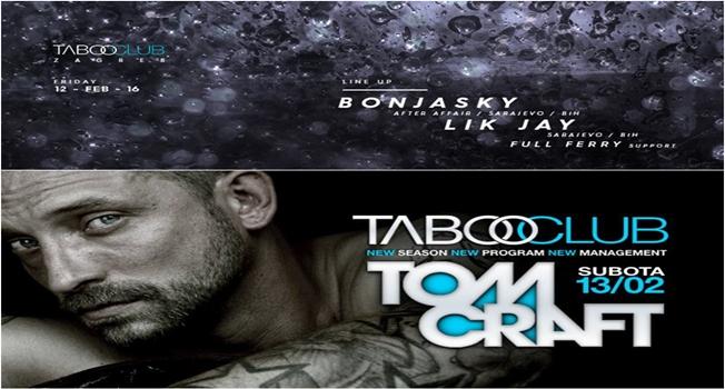 Photo of TABOO CLUB: Bonjasky, Lik Jay i TOMCRAFT ovog vikenda dolaze zabaviti ZAGREB