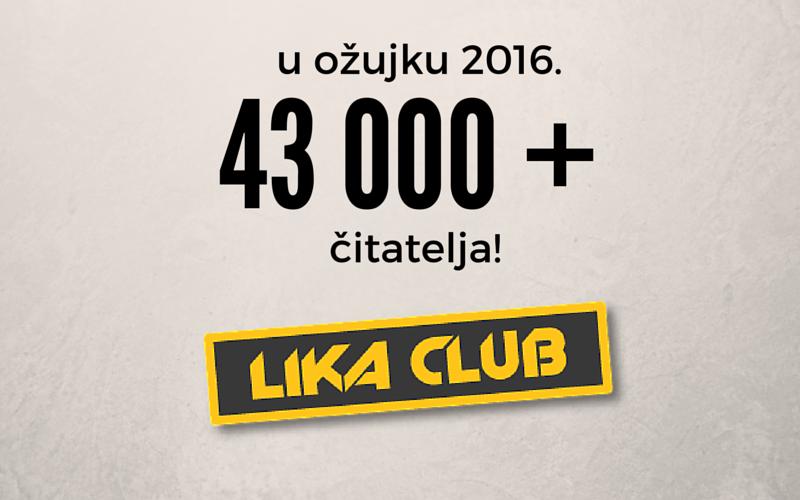 Photo of NOVI LIKACLUB REKORD! Portal je u ožujku posjetilo više od 43 000 građana Hrvatske