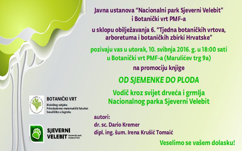 Photo of NP Sjeverni Velebit na 6. Tjednu botaničkih vrtova u Zagrebu!