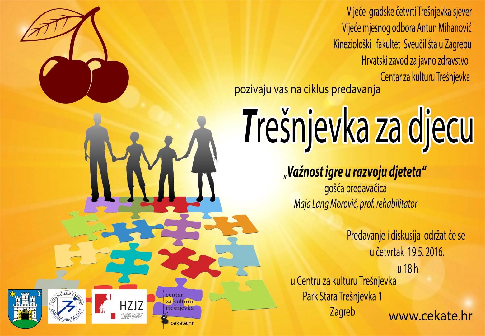 """Photo of Projekt """"Trešnjevka za djecu"""" nastavlja s ciklusom predavanja na temu zdravlja djece!"""
