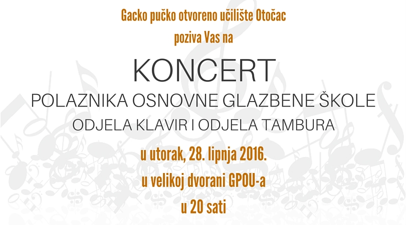 Photo of Koncert polaznika glazbene škole večeras u OTOČCU
