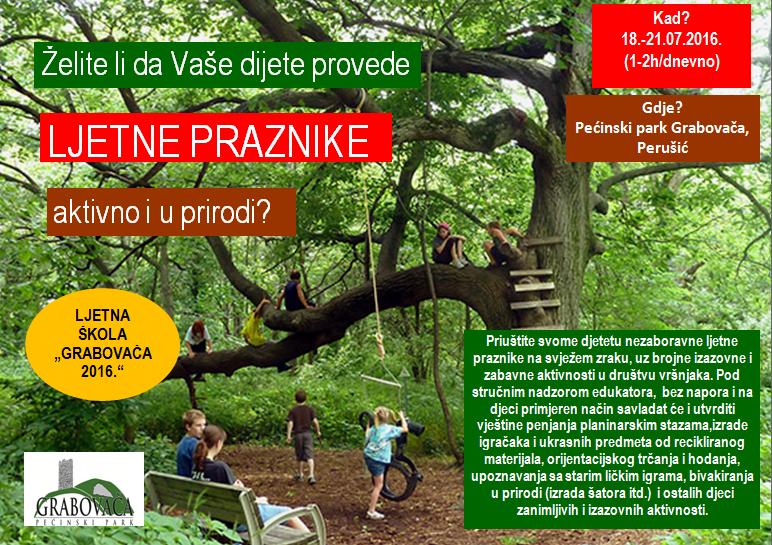 Photo of Ljetna škola 2016. u Grabovači za osnovnoškolske uzraste