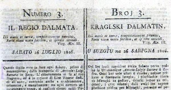 Photo of CRTICE IZ POVIJESTI: Kraljski Dalmatin-prve novine na hrvatskom jeziku