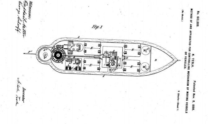 Photo of Teslin patent za dron iz 1898. godine