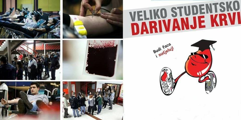 """Photo of """"Budi faca i sudjeluj"""" na velikom studentskom darivanju krvi"""