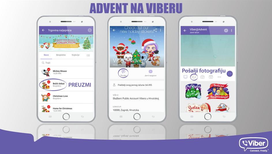 Photo of Viber predstavio prve hrvatske božićne naljepnice