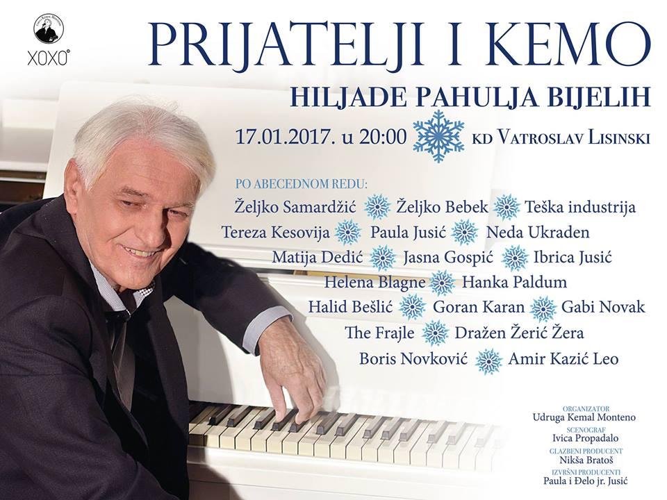 """Photo of """"Prijatelji i Kemo – Hiljade pahulja bijelih"""" u Lisinskom"""
