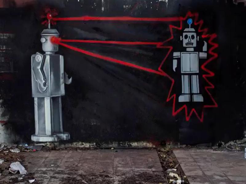 Photo of Street art umjetnik LONAC impresivnom animacijom oživio još jedan oronuli zid!