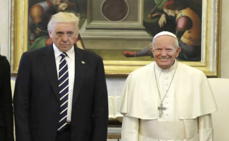 Photo of Fotografija veselog Trumpa i ozbiljnog pape Franje postala hit na Internetu