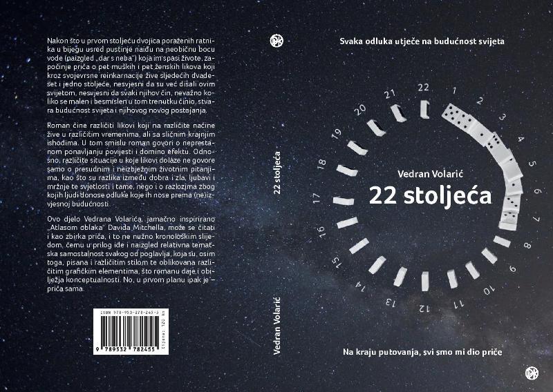 """Photo of Objavljen je prvi roman Vedrana Volarića """"22 stoljeća"""""""