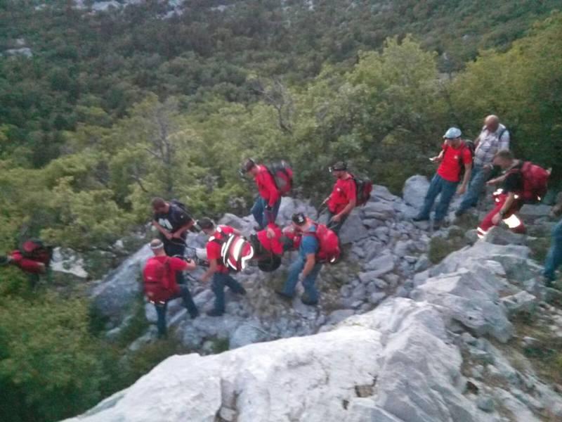 Photo of HGSS spasio muškarca na nepristupačnom dijelu Sjevernog Velebita