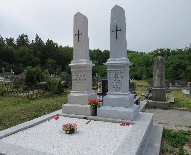 Photo of Zahvaljujući donatorima obnovljeni nadgrobni spomenici roditelja Nikole Tesle