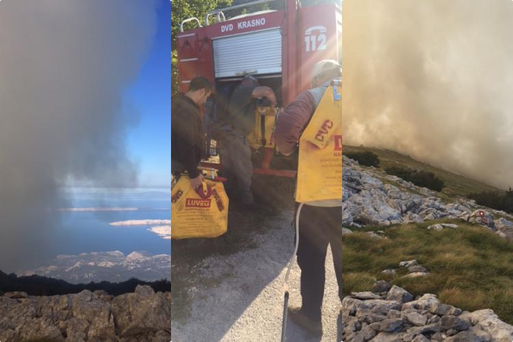 Photo of IZ NP SJEVERNI VELEBIT: Vatrogasci su na terenu, zatražili smo i kanadere za gašenje