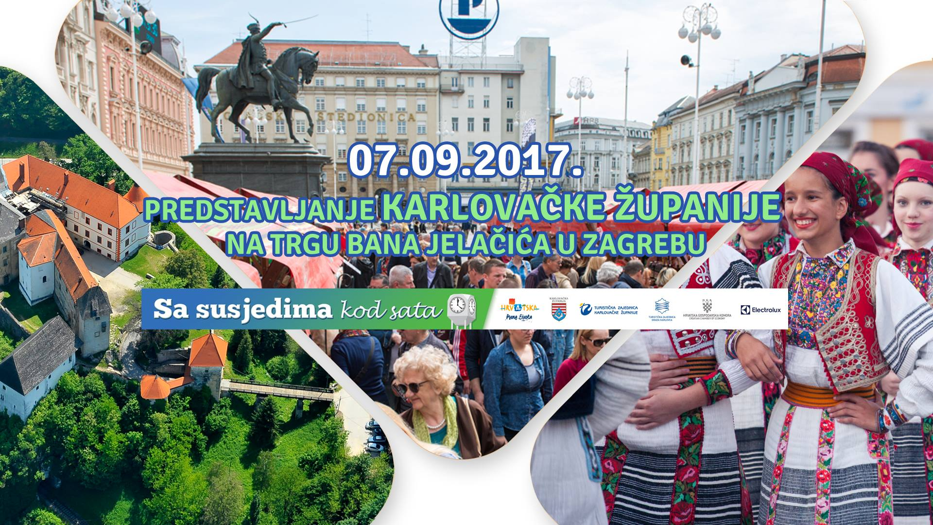 """Photo of Rakovica u Zagrebu: Na trgu bana Jelačića """"Sa susjedima kod sata"""""""