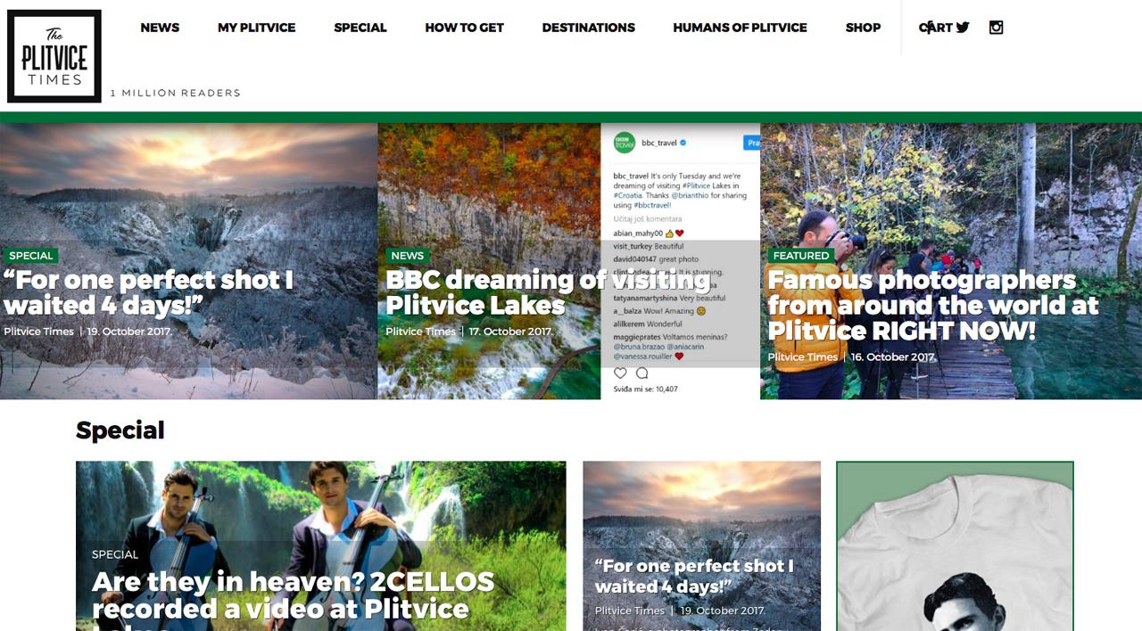 Photo of HrTurizam.hr piše o novom turističkom magazinu The Plitvice Times