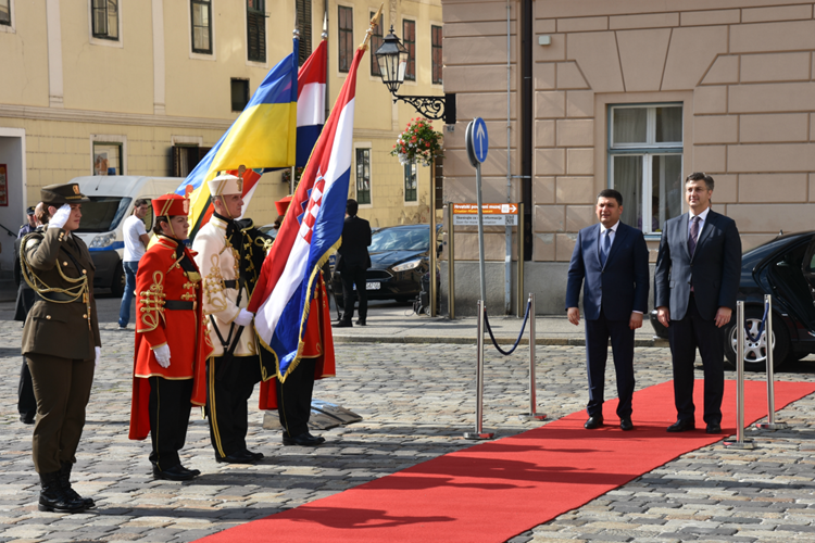 Photo of Predsjednik Vlade Andrej Plenković s ministrom obrane Ukrajine