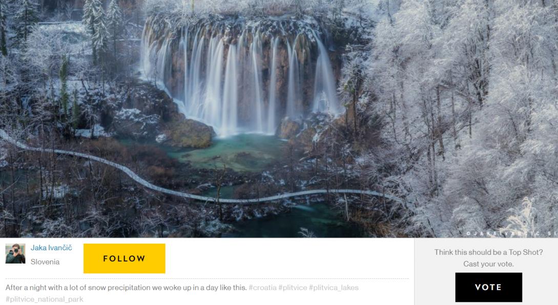 Photo of GLASAJTE ZA PLITVICE: Fotografija s Instameeta u izboru National Geographica!