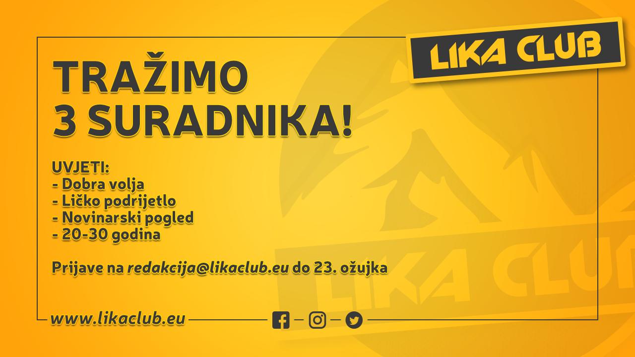 Photo of TRAŽIMO 3 SURADNIKA! Prijavite se do 23. ožujka za marketing, društvene mreže i pisanje
