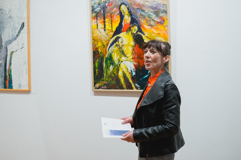 """Photo of Vesna Bunčić iz Muzeja Like: """"Spomenik Nikoli Tesli je gotov i nalazi se na Akademiji likovne umjetnosti"""""""