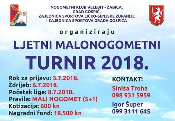 """Photo of Do 3. srpnja traju prijave za ljetni malonogometni turnir """"Gospić 2018"""""""