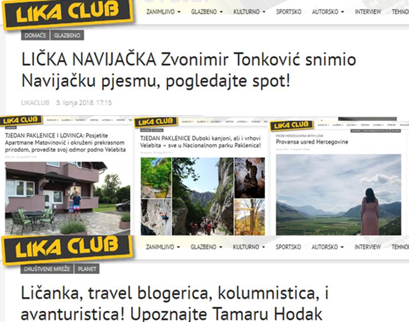 Photo of TOP 5 Što se najviše čitalo u lipnju? Lička navijačka pjesma, Tjedan Paklenice, Apartmani Matovinović…