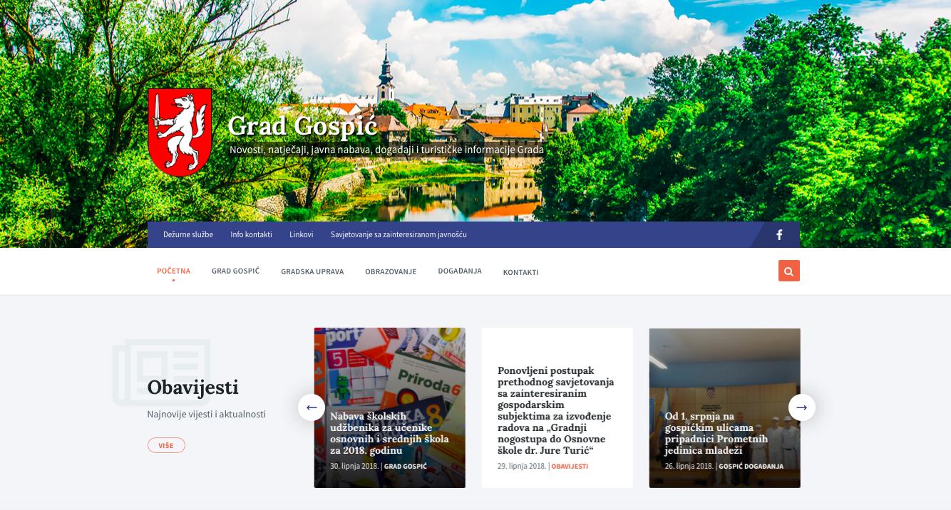 Photo of Grad Gospić ima novu web stranicu,aktivan je na Facebooku, a ima i svoj hashtag