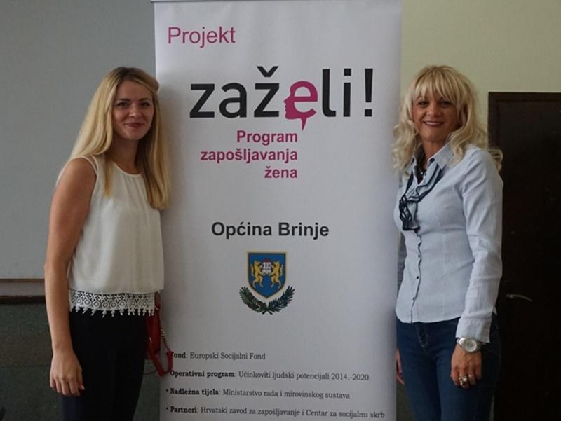 """Photo of FOTO U Brinju predstavljen projekt """"ZAŽELI"""" kojim je zaposleno 10 žena s područja općine"""