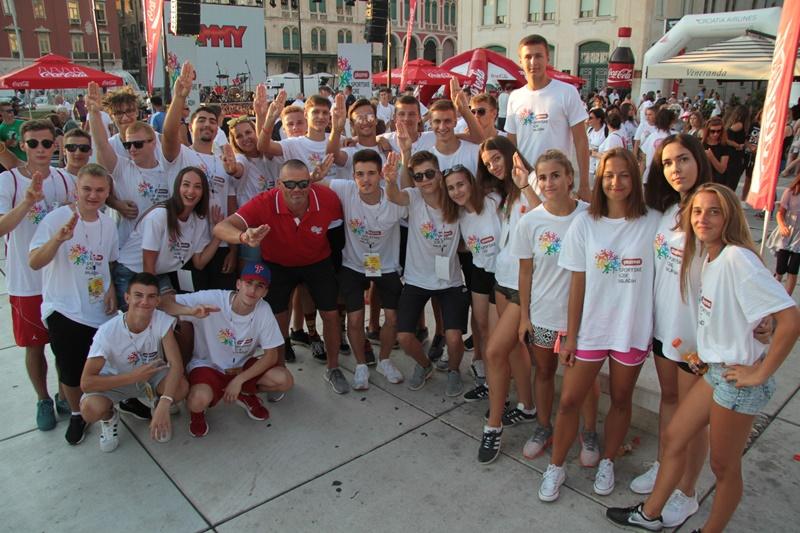 Photo of Na prepunoj splitskoj Rivi svečanom ceremonijom završene 22. Plazma Sportske igre mladih