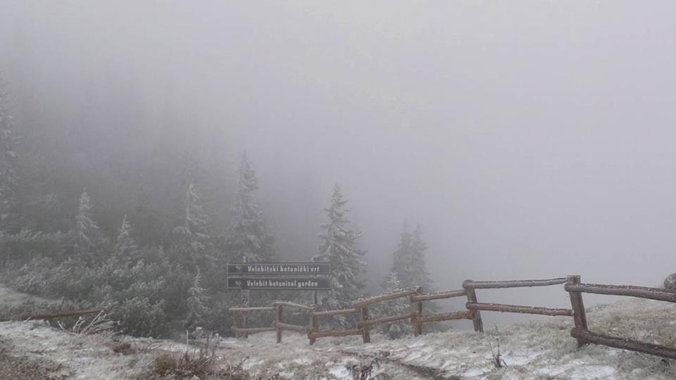 Photo of FOTO Prvi snijeg zabijelio Nacionalni park Sjeverni Velebit!