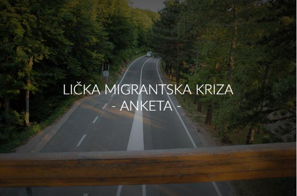 Photo of ANKETA: Osjećate li se sigurno zbog Ličke migrantske krize?
