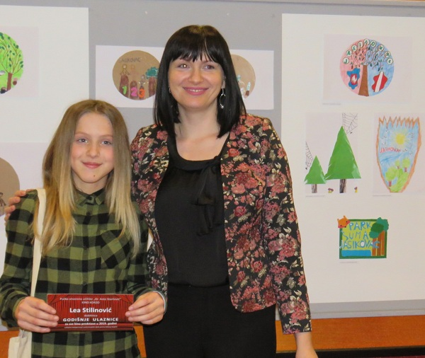 Photo of Likovni rad učenice Lee Stilinović izabran za logo projekta šume Jasikovac