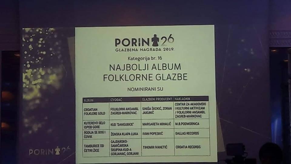 """Photo of Album """"Kuterevo selo ispod gore"""" nominiran za nagradu Porin!"""