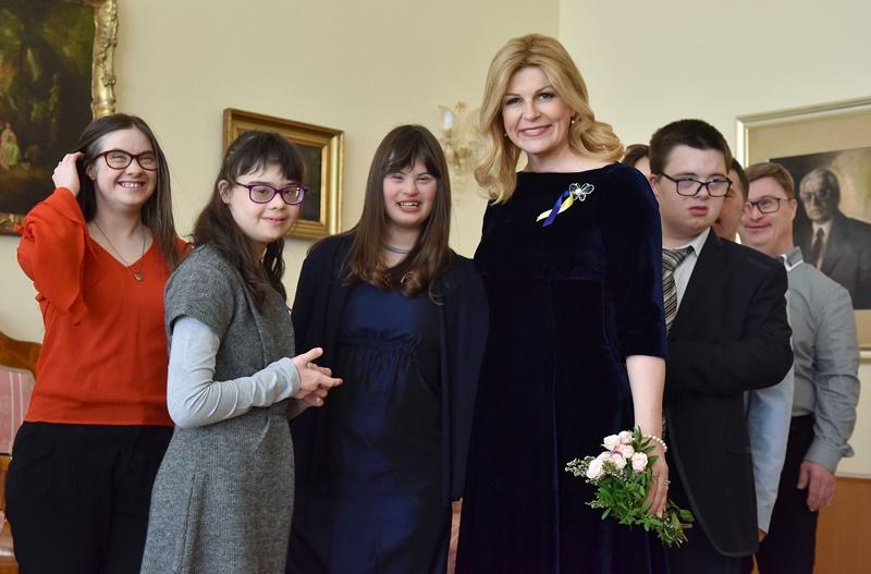 Photo of Predsjednica primila predstavnike Udruge za sindrom Down Zagreb