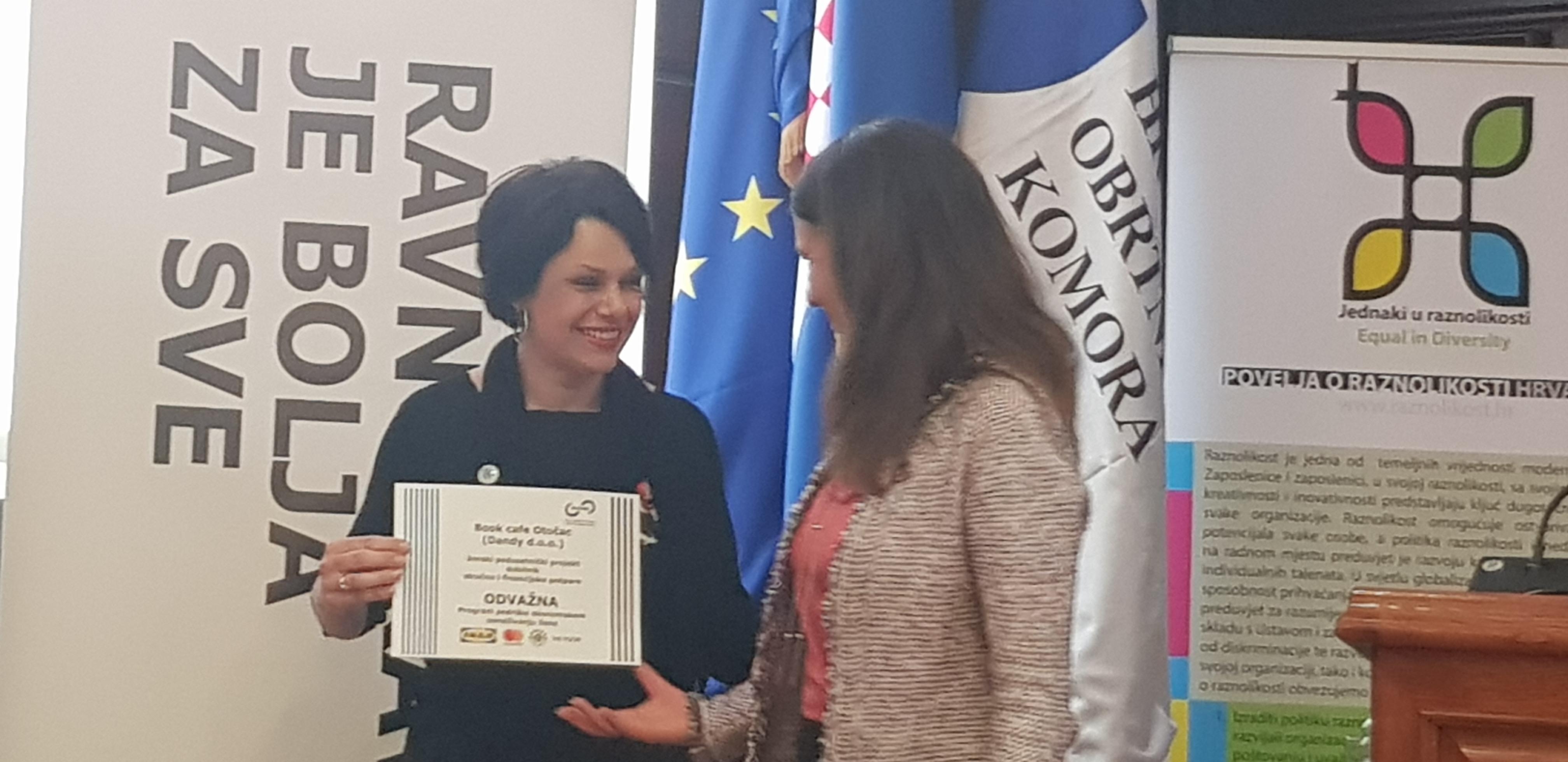 """Photo of Otočanka Tamara Jurković dobitnica financijske potpore u okviru programa """"Odvažna"""""""