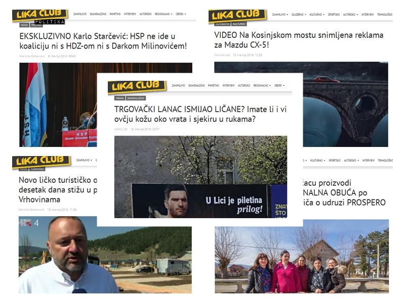 Photo of TOP 5 Što se najviše čitalo u travnju? Reklama s Ličaninom, Mazda u Kosinju, priča o udruzi Prospero…
