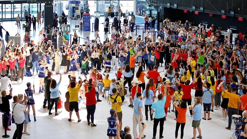 Photo of U Zračnoj luci Franjo Tuđman obilježen Svjetski dan glazbe organizacijom flash moba
