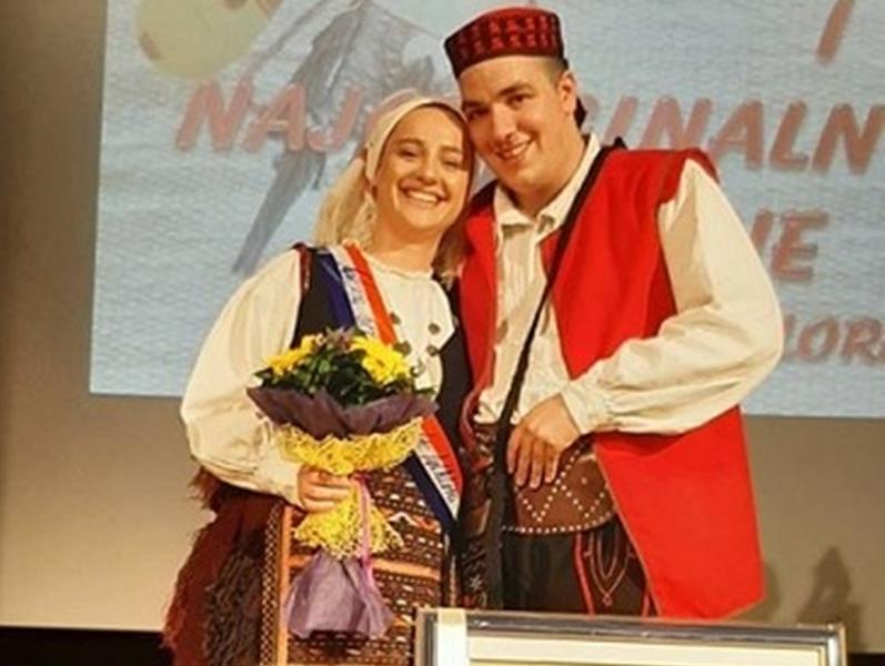 Photo of Karolina Jurčević iz HKUD-a Široka Kula proglašena najljepšom djevojkom u narodnoj nošnji