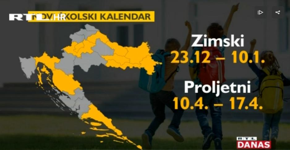 Photo of VIDEO Kada učenici idu na praznike u novoj školskoj godini? Pogledajte raspored po županijama!
