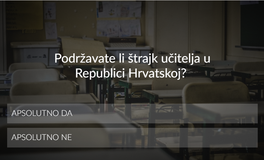 Photo of ANKETA Podržavate li štrajk učitelja u Republici Hrvatskoj? Odaziv sve veći, postotak između 80 i 90%